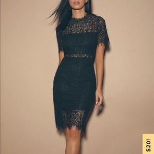 NWT Black Lulu's Lace Dress